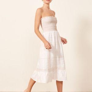 REFORMATION Bermuda White dress XS  (NWT)